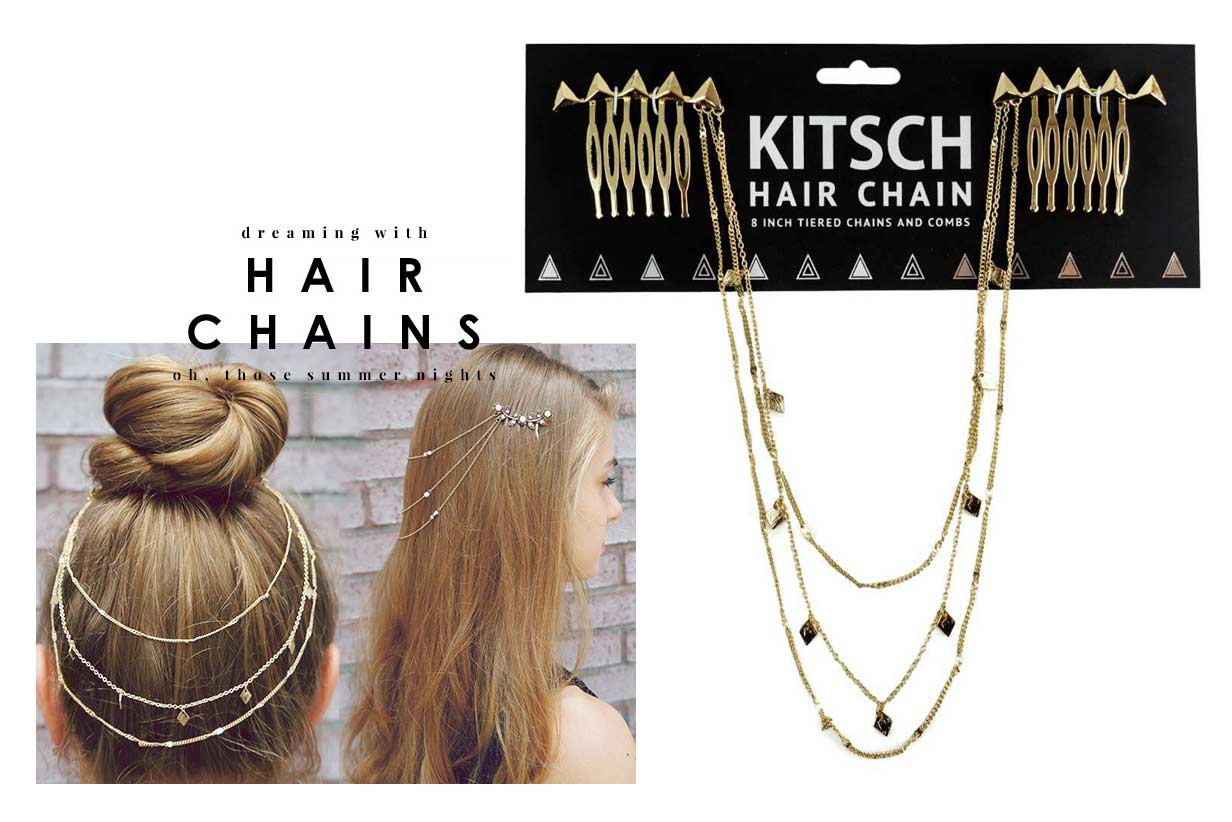 Kitsch(キッチュ)スタッズヘアチェーン/ヘアアクセサリー/Triangle Hair Chain/ゴールド【正規品】【あす楽対応_関東】02P28Sep16【楽ギフ_包装】【あす楽_土曜営業】【メール便対象】