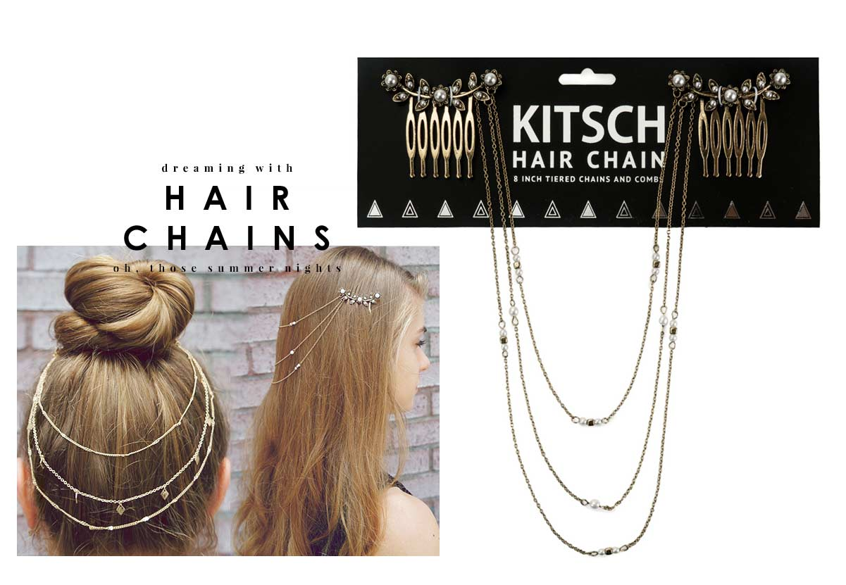 Kitsch(キッチュ)フラワーパールヘアチェーン/ヘアアクセサリー/Pearl Hair Chain/アンティークゴールド【正規品】【あす楽対応_関東】02P28Sep16【楽ギフ_包装】【あす楽_土曜営業】【メール便対象】