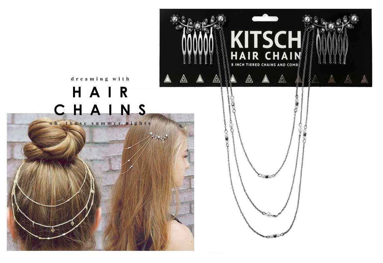 Kitsch(キッチュ)フラワーパールヘアチェーン/ヘアアクセサリー/Pearl Hair Chain/アンティークシルバー【正規品】【あす楽対応_関東】02P28Sep16【楽ギフ_包装】【あす楽_土曜営業】【メール便対象】