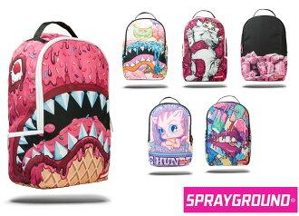 Sprayground  Backpack DONUT SHARK/ICE CREAM SHARK/KITTEN MONEY/PINK MONEY ROLLED/UNITED CUPCAKES OF AMERICA/POPSICLE GRILLZ