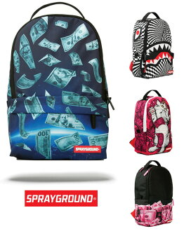 Sprayground MINI SPACE MONEY/TRIPPY SHARK/KITTEN MONEY/PINK MONEY ROLLED