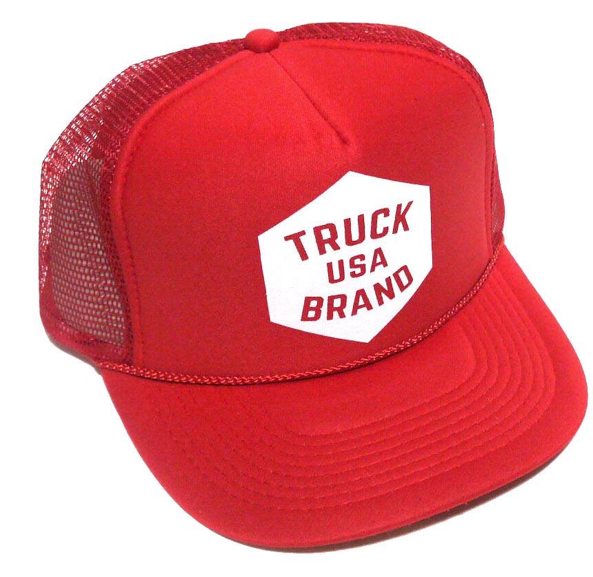 トラックブランド(Truck Brand)MARKET-MESH ロゴメッシュキャップ/レッド【正規品】【あす楽対応_関東】02P28Sep16【楽ギフ_包装】【あす楽_土曜営業】