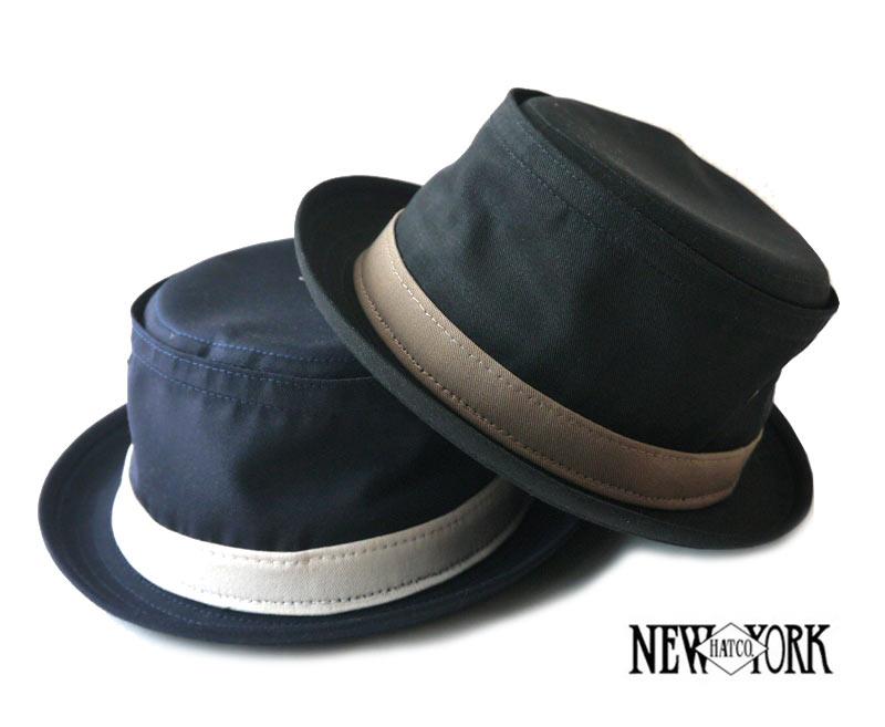 ニューヨークハット(New York Hat)ポークパイハット/帽子/COTTON STINGY/ブラック、ネイビー【正規品】【あす楽対応_関東】02P28Sep16【楽ギフ_包装】【あす楽_土曜営業】