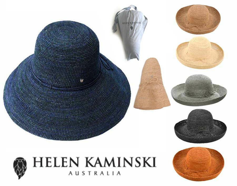 【収納袋付】ヘレンカミンスキー(Helen Kaminski)PROVENCE12 プロバンス12 ラフィアハット 帽子 ストローハット 持ち運びに便利なロゴ入り布バッグ付き UVカットハット 折りたためる帽子【正規品】【あす楽対応_関東】02P28Sep16【楽ギフ_包装】【あす楽_土曜営業】