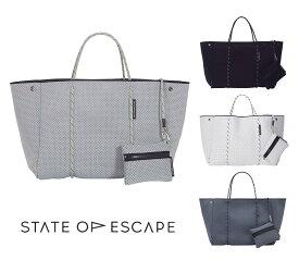 State of Escape(ステイトオブエスケープ)ESCAPE BAG/トートバッグ ポーチ付き/ネオプレンバッグ/マザーズバッグ/エコバッグ/ブラック/グレー/ホワイト【あす楽対応_関東】