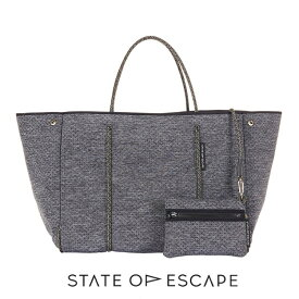 State of Escape(ステイトオブエスケープ)ESCAPE bag in LUXE charcoal marle/トートバッグ ポーチ付き/エコバッグ/ネオプレンバッグ/LUXEチャコールマール/マザーズバッグ/グレー【あす楽対応_関東】