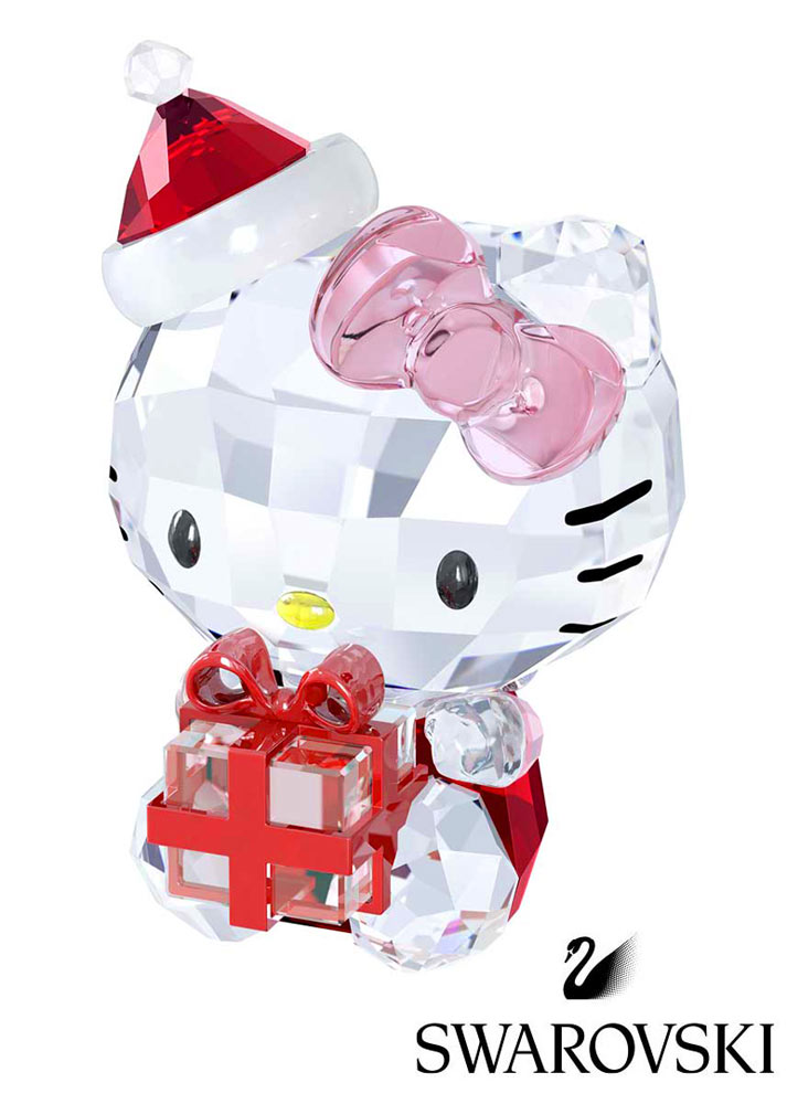 スワロフスキー(SWAROVSKI)ハローキティクリスタルオブジェ/クリスマスギフト/Hello Kitty Christmas Gift/スワロフスキー社製置物【正規品】【あす楽対応_関東】02P28Sep16【楽ギフ_包装】【あす楽_土曜営業】【送料無料】