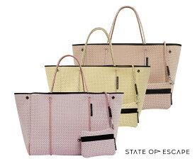 【2021年春夏モデル】State of Escape(ステイトオブエスケープ)ESCAPE BAG/エコバッグ/トートバッグ ポーチ付き/ネオプレンバッグ/マザーズバッグ【あす楽対応_関東】