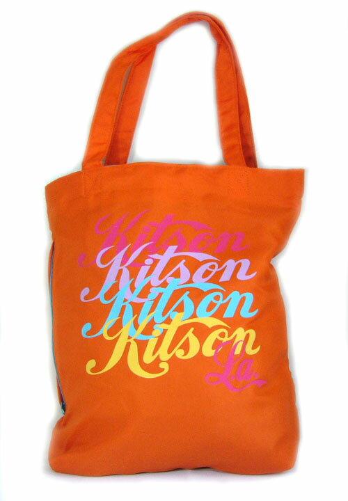 KITSON(キットソン)ロゴトートバッグ(オレンジ) 【正規品】【あす楽対応_関東】02P28Sep16【楽ギフ_包装】【