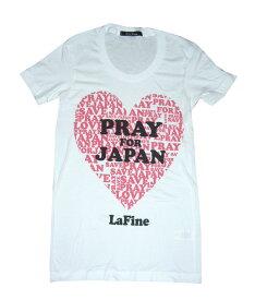 LAFINE(ラファイン)PRAY FOR JAPAN Tシャツ/ホワイト【正規品】【あす楽対応_関東】02P28Sep16【楽ギフ_包装】【あす楽_土曜営業】【メール便対象】