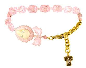 Necklace / scull cameo collar (pink) fs3gm for タリナタランティーノ (Tarina Tarantino) pets