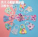 即納 洗えるキッズマスク3枚入り 子供用 在庫あり ネコポスは送料無料 洗えるマスク