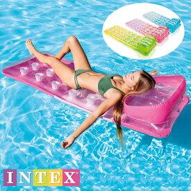 グラデーションベッドフロート ラウンジフロート 18ポケットファッションラウンジ 188×71cm インテックスintex 水の上で寝ころべます。intex 58890【宅配便送料無料】