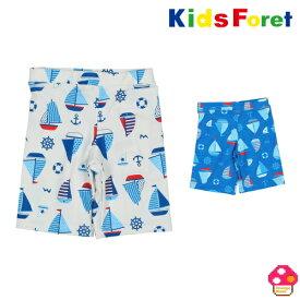 Kids Foret(キッズフォーレ) ヨット柄スイムパンツ ベビー キッズ 男の子水着 スイムウェア