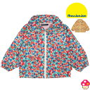 moujonjon(ムージョンジョン) 小花柄ウインドブレーカー 女の子 薄手ジャケット ジャンパー ブルゾン フードなしにできる ベビー キッズ 90 100 110 120 130 子供服 セール