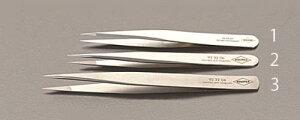エスコ (ESCO) 0.5x115mm 精密用ピンセット(ステンレス製) EA595E-1