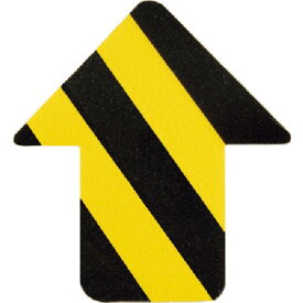 緑十字 路面表示ステッカー 矢印型 黄/黒 QCA−TR 76×70mm 10枚組 PVC ( 403045 ) (株)日本緑十字社