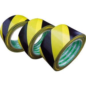 日東エルマテ プリント養生テープ P−YB 50mm×25m 黄/黒 P-YB50 ( PYB50 ) 日東エルマテリアル(株)