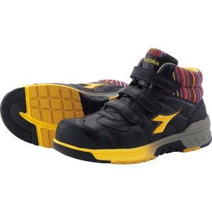 ディアドラ 安全作業靴 ステラジェイ 黒/黄 25.5cm ( SJ25255 ) ドンケル(株)
