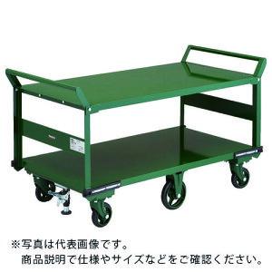 TRUSCO 鋼鉄製運搬車 1400X750 両袖2段型 鋳物6輪車 S付 OH-1L2W-6S ( OH1L2W6S ) トラスコ中山(株)