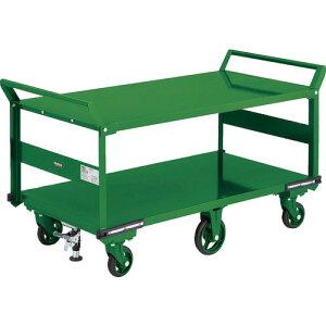 TRUSCO 鋼鉄製運搬車 1400X750 両袖2段型 鋳物6輪車 LS付 OH-1L2W-6SS ( OH1L2W6SS ) トラスコ中山(株)