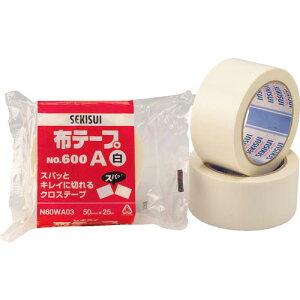 積水 布テープ#600A 38X25 白 ( N60WA02 ) 積水化学工業(株)
