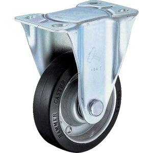 ハンマー 固定式ゴム車輪(スチールホイール・ラジアルボールベアリング)100mm 420JR-RBB100-BAR01 ( 420JRRBB100BAR01 ) ハンマーキャスター(株)