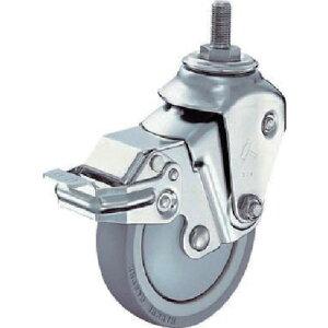 ハンマー クッションキャスターねじ込み旋回式ウレタン車輪100mm 線径2.6mm SP付 935BEA-UZ100-M12-26-BAR01 ( 935BEAUZ100M1226BAR01 ) ハンマーキャスター(株)