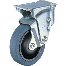 ハンマー クッションキャスター固定式ゴム車輪100mm 線径3.2mm 940ER-FR100-32-BAR01 ( 940ERFR10032BAR01 ) ハンマーキャスター(株)
