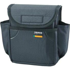 トラスコ(TRUSCO) 小型腰袋 二段フタ付 ブラック TC-52BK ( TC52BK ) トラスコ中山(株)