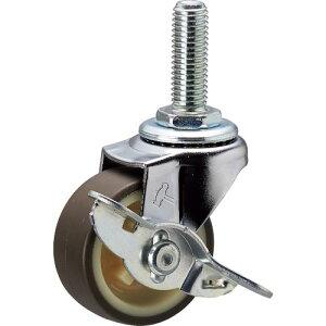 ハンマー ねじ込み旋回式ウレタン車輪(ナイロンホイール)50mm ストッパー付 415EA-UR50-BAR01 ( 415EAUR50BAR01 ) ハンマーキャスター(株)