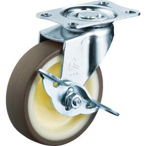 ハンマー Eシリーズ旋回式ウレタン車輪(ナイロンホイール)85mm ストッパー付 415E-UR85-BAR01 ( 415EUR85BAR01 ) ハンマーキャスター(株)
