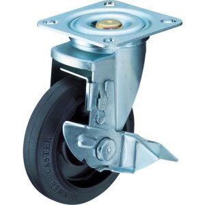 ハンマー ハイグレード旋回式ゴム車輪(ナイロンホイール・ボールベアリング)150mm ストッパー付 413YS-FR150-BAR01 ( 413YSFR150BAR01 ) ハンマーキャスター(株)