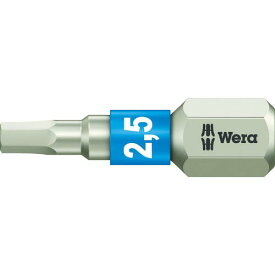 Wera 3840/1 ステンレストーションビット ヘキサゴン2.5X25 071072 ( 071072 ) Wera社