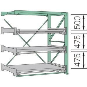 KDS スライドラック SSR10-2012-3FR ( SSR1020123FR ) ムラテックKDS(株)