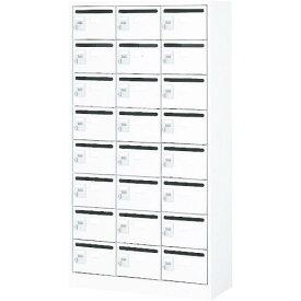 トラスコ(TRUSCO) メールボックス 24人用 手ぶらキー 900X380XH1700 WMVK-24P ( WMVK24P ) トラスコ中山(株)