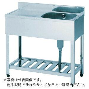 アズマ 一槽水切シンク右水槽 1200×600×800 HPM1-1200R ( HPM11200R ) (株)東製作所