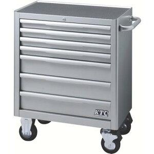 KTC ローラーキャビネット(7段7引出し)シルバー EKW-1007 ( EKW1007 ) 京都機械工具(株)