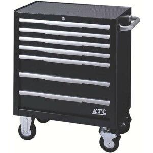 KTC ローラーキャビネット(7段7引出し)ブラック EKW-1007BK ( EKW1007BK ) 京都機械工具(株)