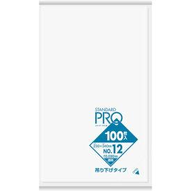 サニパック  L12Hスタンダードポリ袋吊り下げタイプ(0.03)12号 L12H-CL ( L12HCL ) 日本サニパック(株)