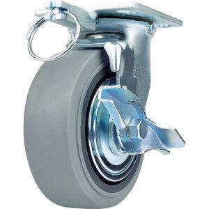 SAMSONG 重荷重用キャスター 自在 ゴム車125mm ブレーキ付 TP6650-MIR BB TG TLB ( TP6650MIRBBTGTLB ) SAMSONG CASTER