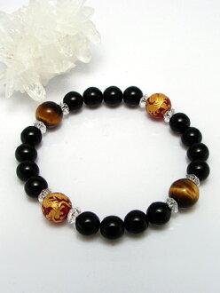 Flight-SC Dragon Bracelet ( Onyx & red agate & Tiger eye stone )
