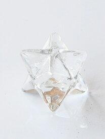 天然 ヒマラヤ水晶 マルカバスター(マカバスター)手握り お守り (merkaba star)