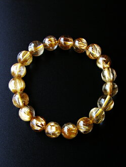 Premium titin rutilated quartz 10 mm Pearl large bracelet
