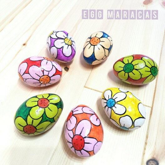 エッグシェーカー 小さなマラカス おもちゃ 卵形 木製ミニマラカス エッグチャチャ