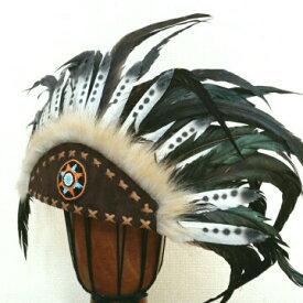 ウォーボンネット【 羽根かんむり 】wn-19ネイティブインディアン 羽飾り ハロウィン パーティーグッズ 仮装アイテム