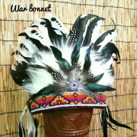 ウォーボンネット 羽根かんむり wn-18 ネイティブ  4カラー インディアン 帽子・コスプレ 羽根飾り パーティー