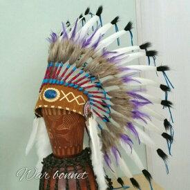 ウォーボンネット【 羽根かんむり 】wn-3  2カラーあり ネイティブ インディアン 帽子・コスプレ 羽根飾り パーティー