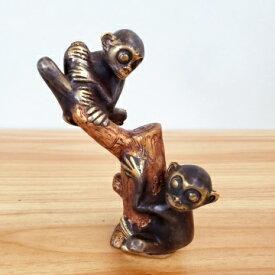 猿 ブロンズ像 サル バリ雑貨 木登り猿 インテリア 銅像 真鍮