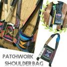 ショルダーバッグパッチワーク斜め掛けバッグアジアンゲリ素材和柄バッグエスニック